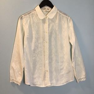 Anthropologie Lili's Closet Embroidered Blouse